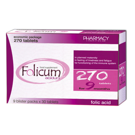 Picture of FOLICUM acidum tablets